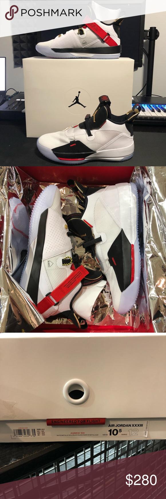 """620348f57d4b Air Jordan 33 Future Of Flight AQ8830 100 AIR JORDAN 33 """"FUTURE OF FLIGHT"""" AQ8830  100 MEN S SIZE 10.5 NEW IN BOX 100% AUTHENTIC DEADSTOCK Jordan Shoes ..."""