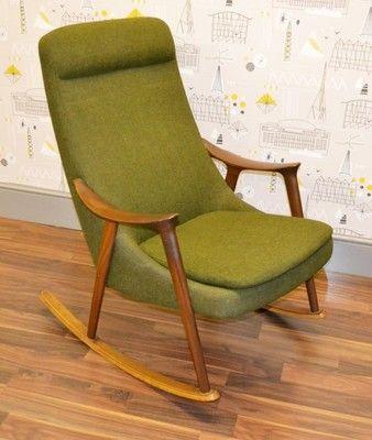 Danish Rocking Chair Ebay Rocking Chair Chair Retro Chair