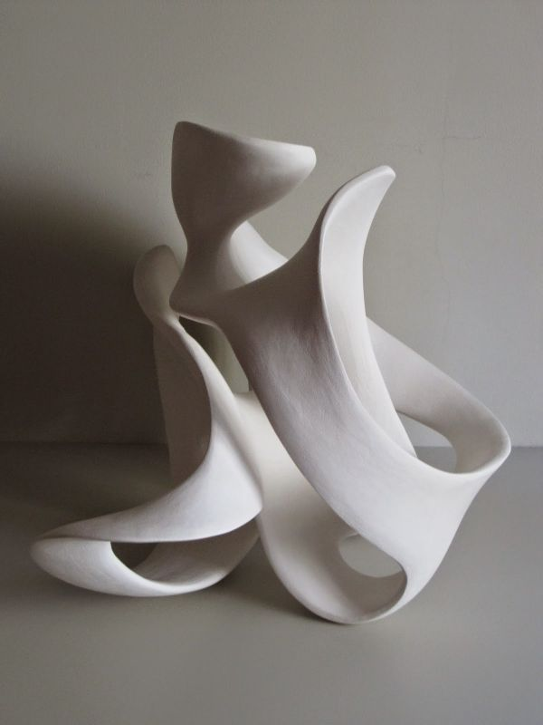 Fired clay #sculpture by #sculptor Rosemarie Powell titled: 'white ...