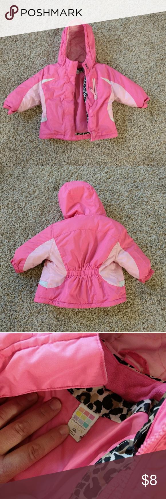 8e58e8da2 2 in 1 pink leopard winter coat 12-18 mths girls in 2018