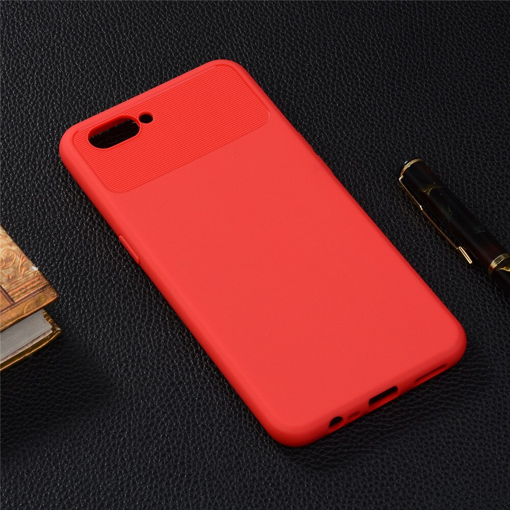Plain Color Fitted Soft TPU Back Case Cover For OPPO A3S