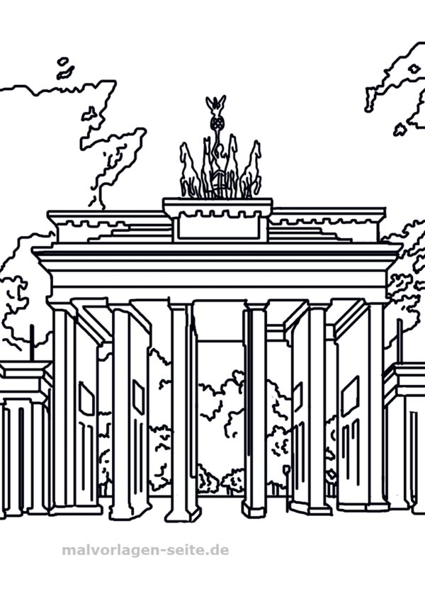 Malvorlage Brandenburger Tor Malvorlagen Ausmalbilder Places