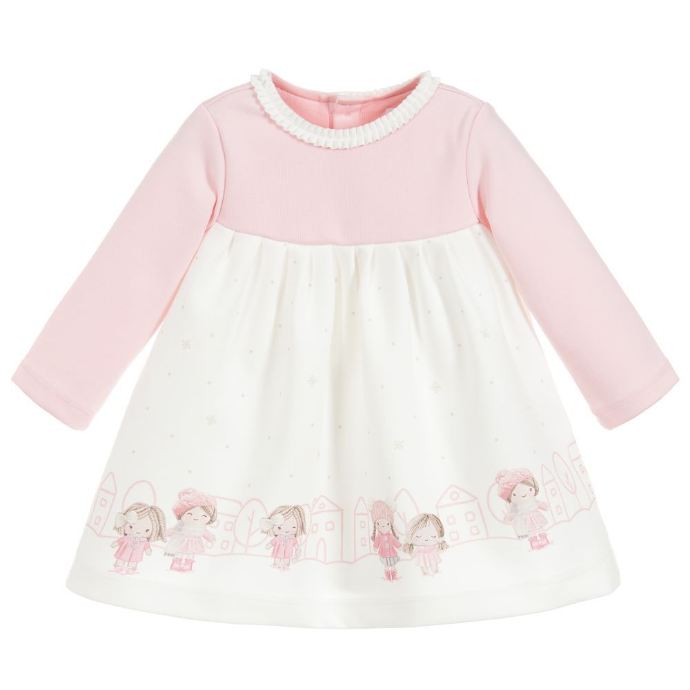 225b15b6e Baby Girls Pink Dress for Girl by Mayoral Newborn. Discover more ...
