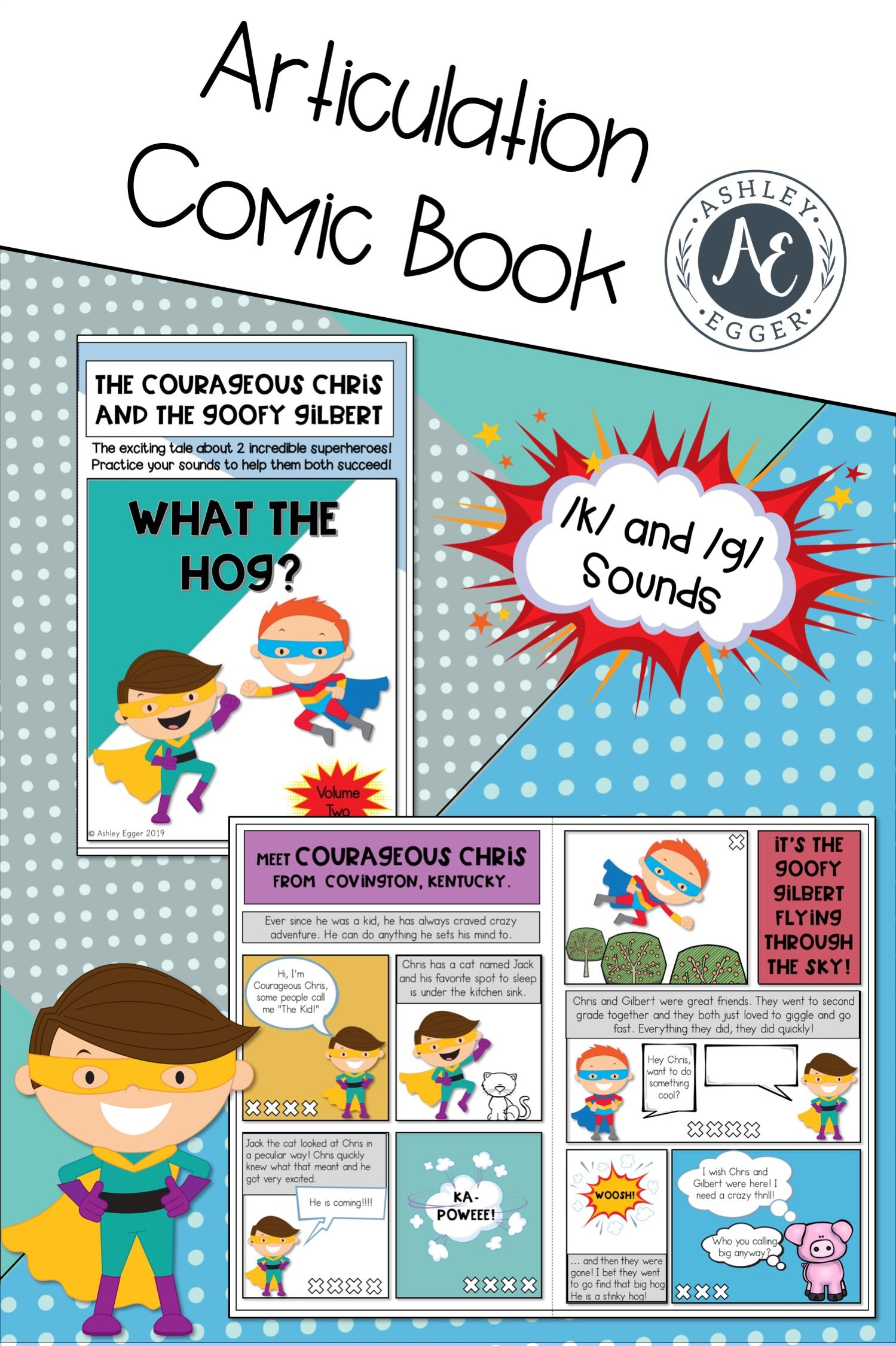 Articulation Activities And Comic Book Speech Therapy K