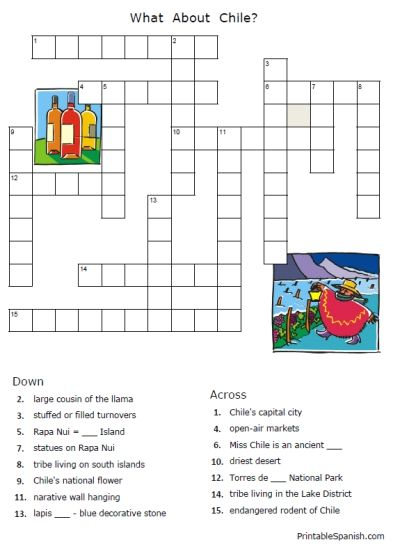Study Spain, Mexico, Argentina, and Chile in this set of puzzles and ...