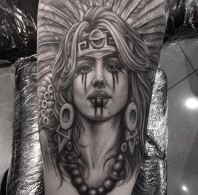 14983b282 Aztec girl   aztec   Aztec tattoo designs, Body art tattoos, Cholo art