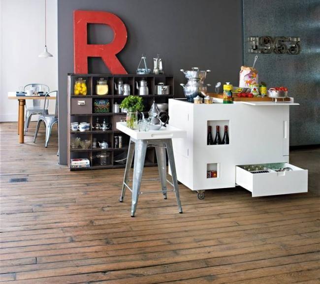 kompakte mini-küche boffi-moderne weiße wohnung wohnung-highlight, Innenarchitektur ideen