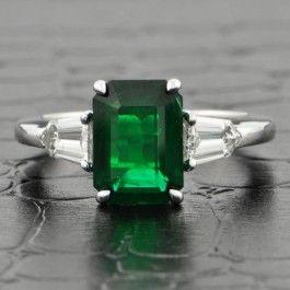 Classic Emerald and Diamond Ring $24,999.00