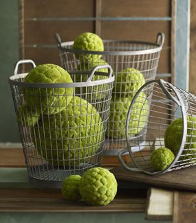 Green Decorative Balls In A Bowl Add A Lovely Fresh Touch To