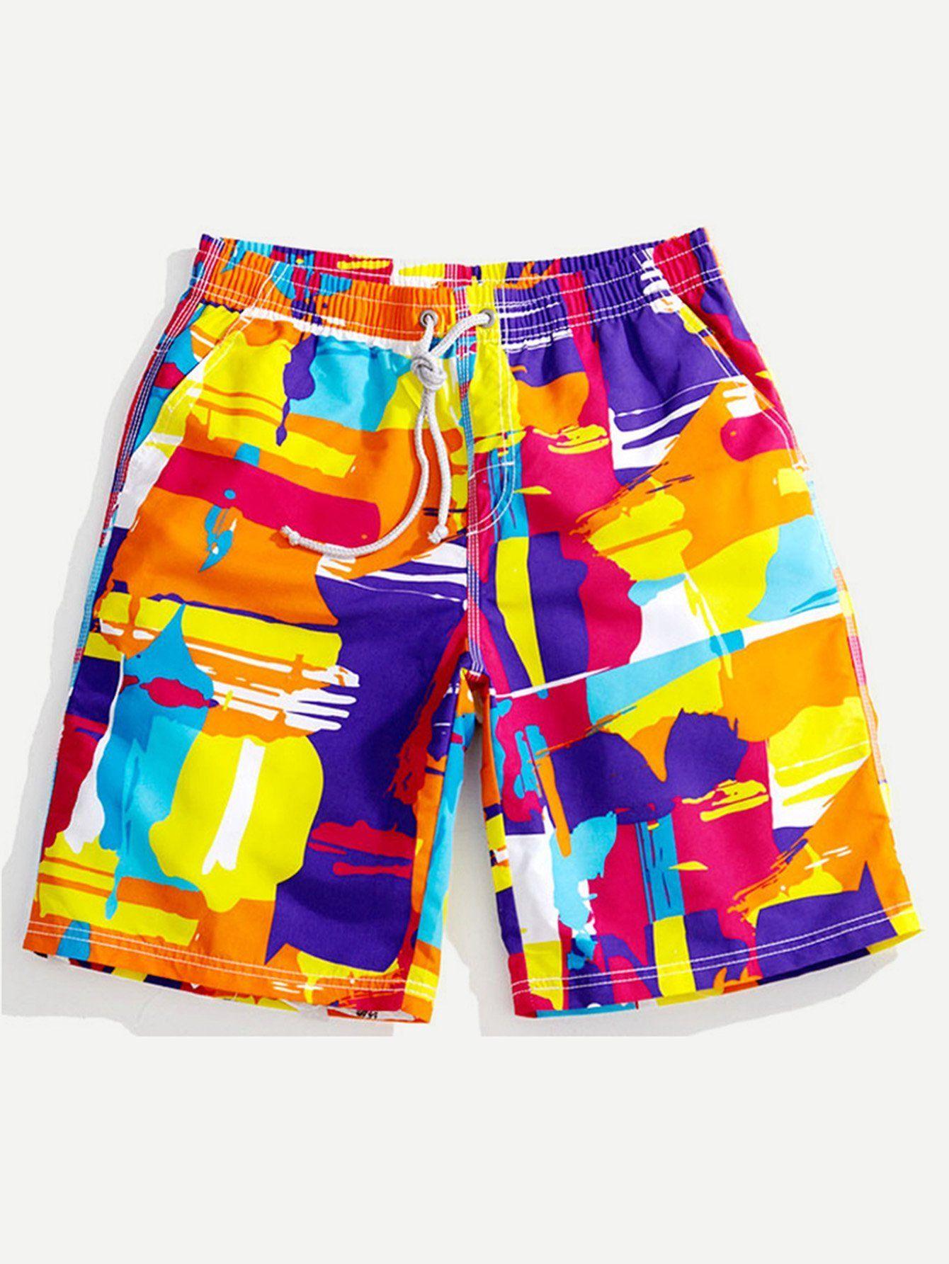Tailor Pal Love Men Swim Trunks Short Pocket Adjustable Board Short with Linimg