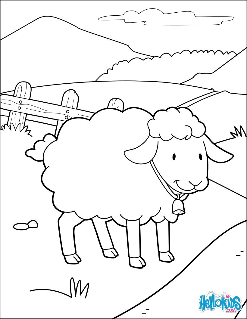 You can print out this Miss Sheep Happy coloring page and