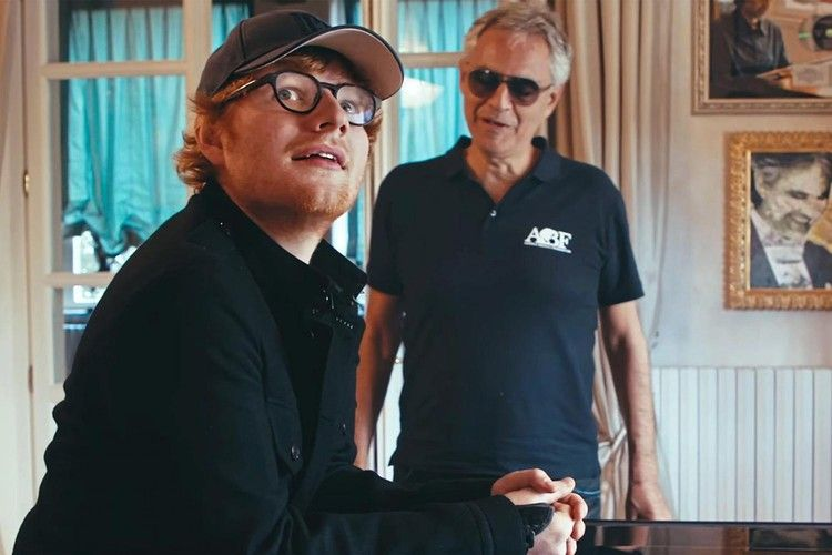 Andrea Bocelli Recording Ed Sheeran Duet Left My Sons In Awe