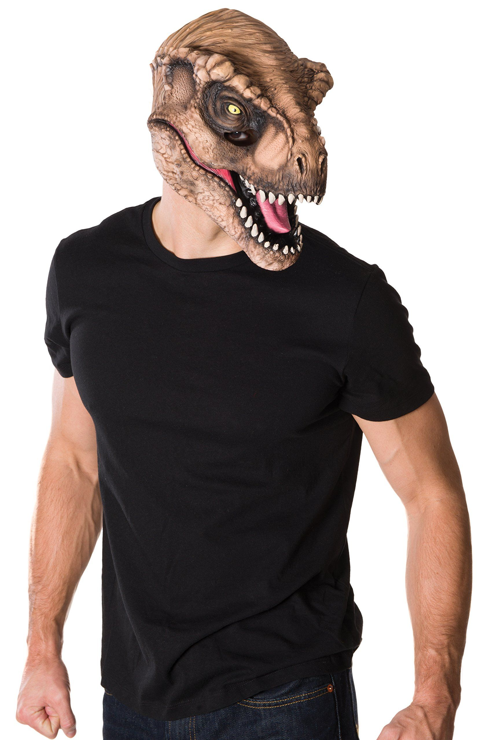 Amazon.com: Rubie's Costume Co Men's Jurassic World T-Rex 3/4 Mask ...