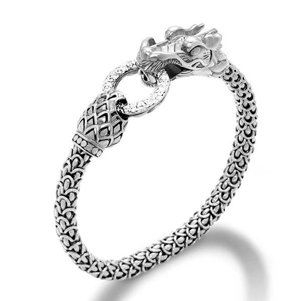 John Hardy Naga Bracelet With Diamonds S White diamond JdZika
