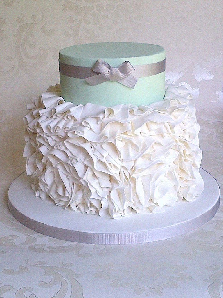 Mint Ruffle Wedding Cake for Cabosse Patisserie Wedding Cake ...