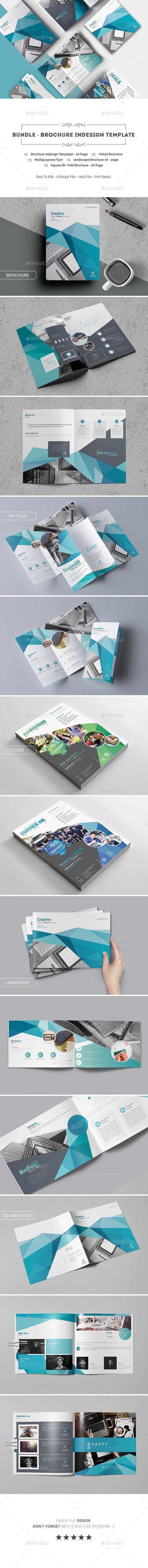 Bundle - Brochure Indesign Template | Anuncios, Folletos y Creativo