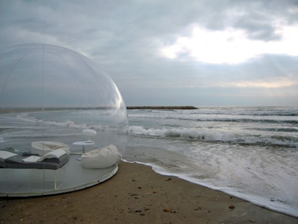 casa bubble aufblasbare designer gartenmöbel lounge Mirjam´s - aufblasbare mobel natur