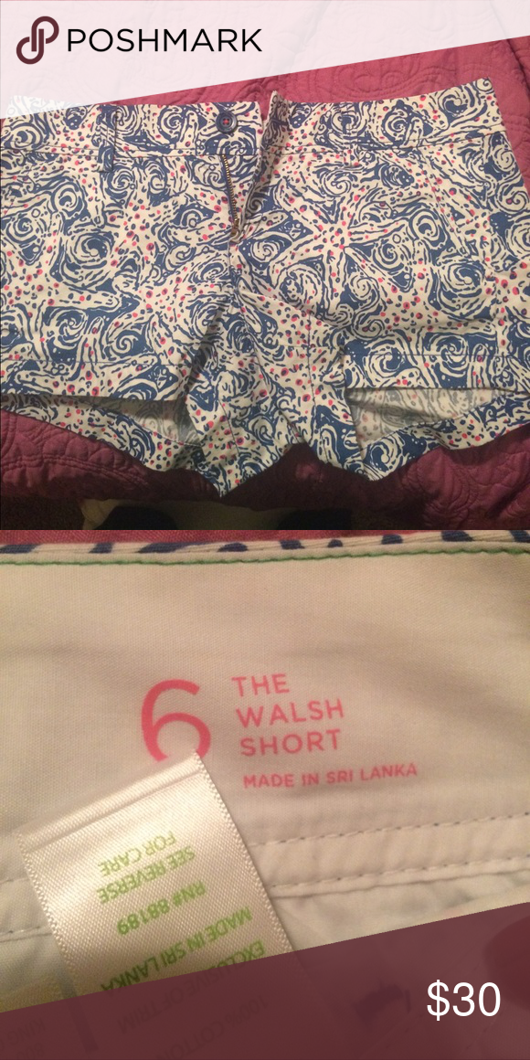 "Lilly Pulitzer Short Great condition! Walsh short 3"" Lilly Pulitzer Shorts"