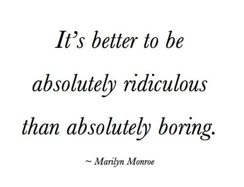 Marilyn Monroe...absolutely ridiculous v absolutely boring