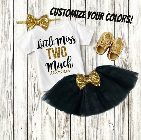 bde3a611f 2nd Birthday Outfit Girl, Two Year Old Birthday Girl Clothing, 2 ...