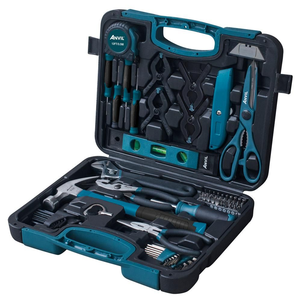 Because My Guy S Definitely No Handyman Anvil Homeowners Tool Set 76 Piece Woodworking Home Tool Kits Woodworking Tools