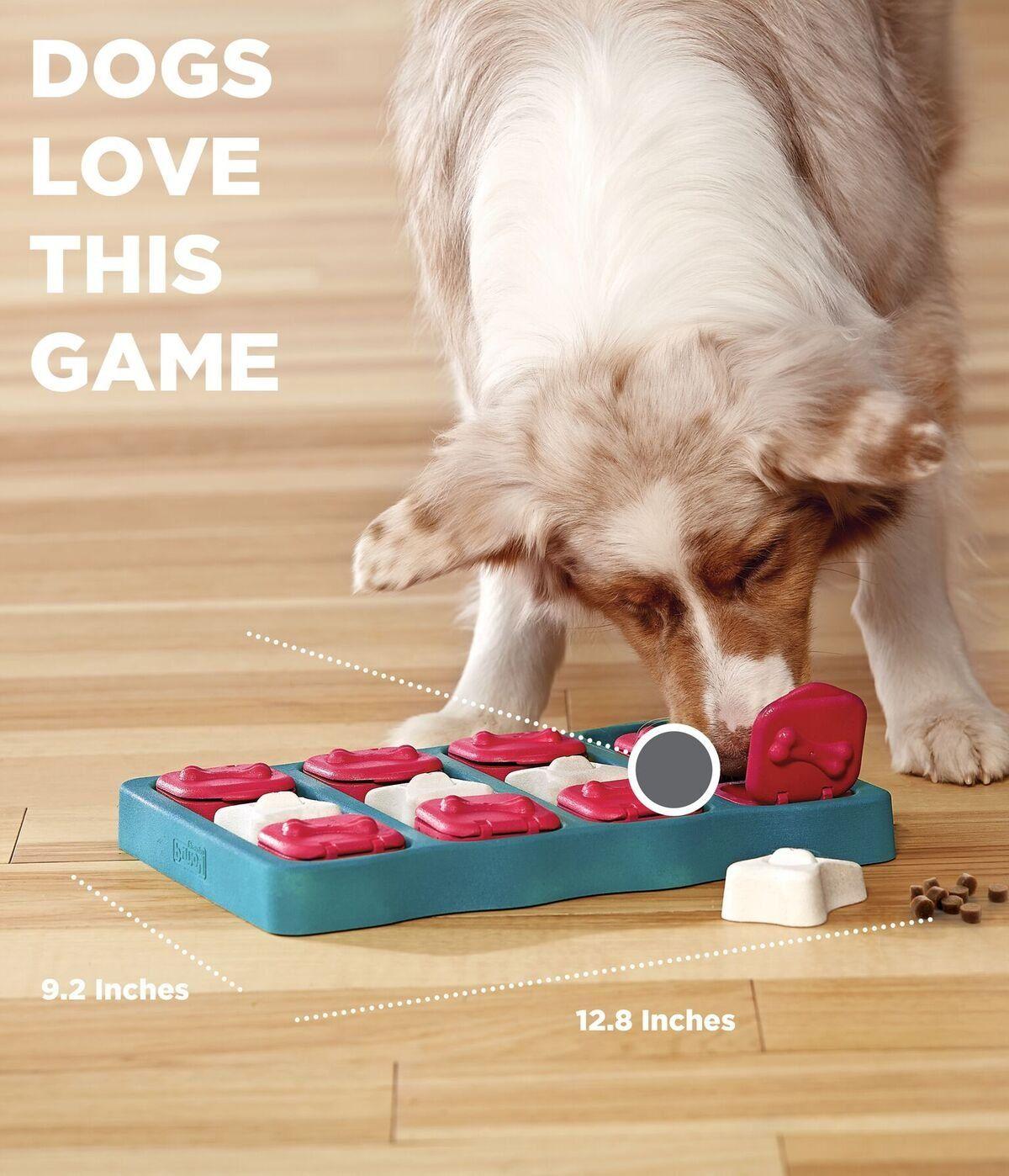 Nina Ottoson Dog Brick Treat Puzzle Dog Toy By Outward Hound