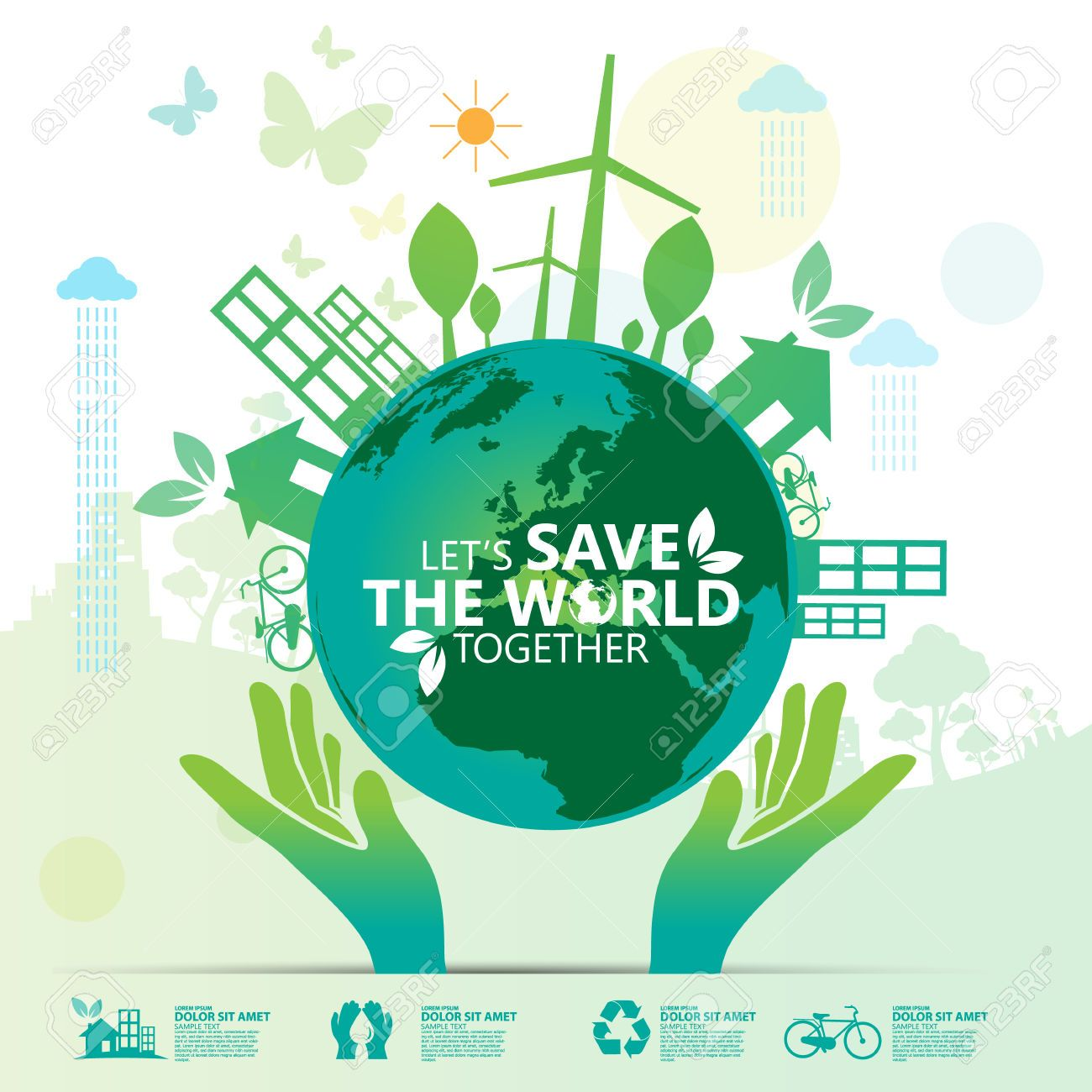 Letu0027s Save The World Together Royalty Free Cliparts, Vectors, And Stock  Illustration. Image 50857406.