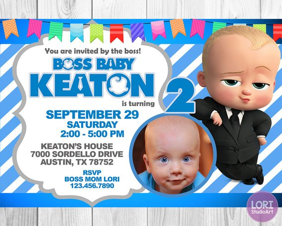 baby birthday invitations boss baby