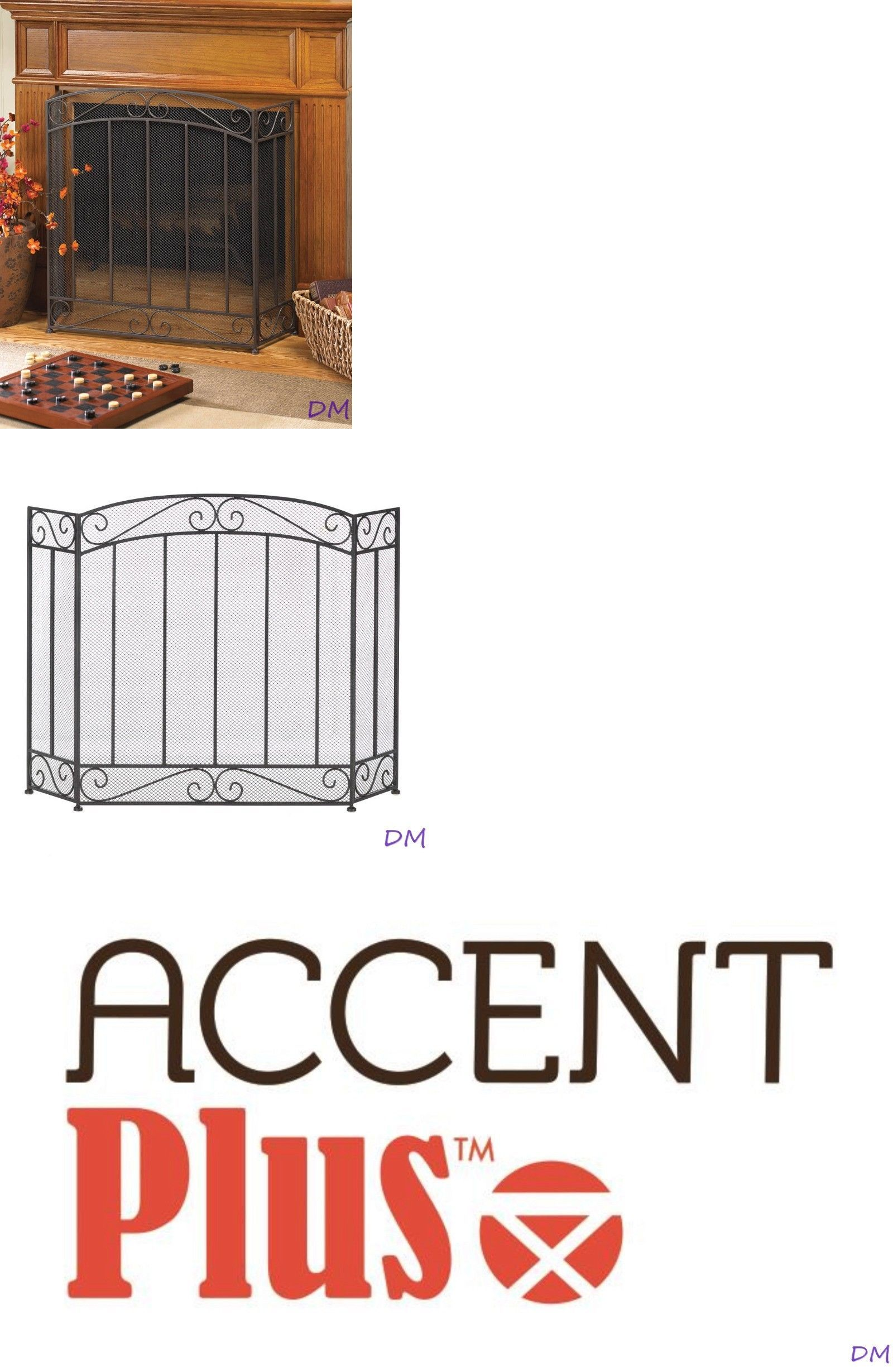 Fireplace Screens and Doors 38221: Classic Tri-Fold Fireplace ...