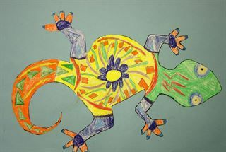 Check out student artwork posted to Artsonia from the Talavera Lizards project gallery at Ada Merritt K-8 Center.