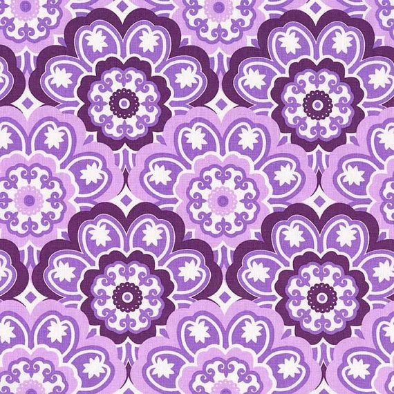 Michael Miller Birds and the Bees Collection,  Blossoming (Lavender), 100% cotton