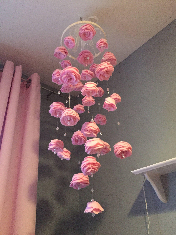 Wedding Flower Shops Near Me 50 Wedding Flowers Flower Mobile Felt Roses Diy Baby Mobile Girl