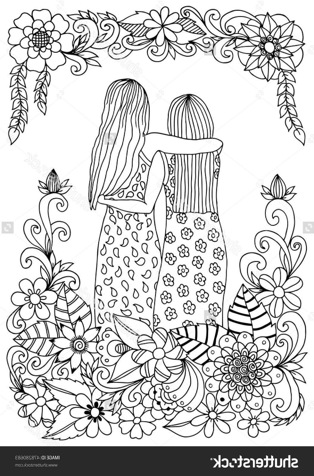 22 Meilleur De Coloriage Sisters Photos  Coloring books, Coloring