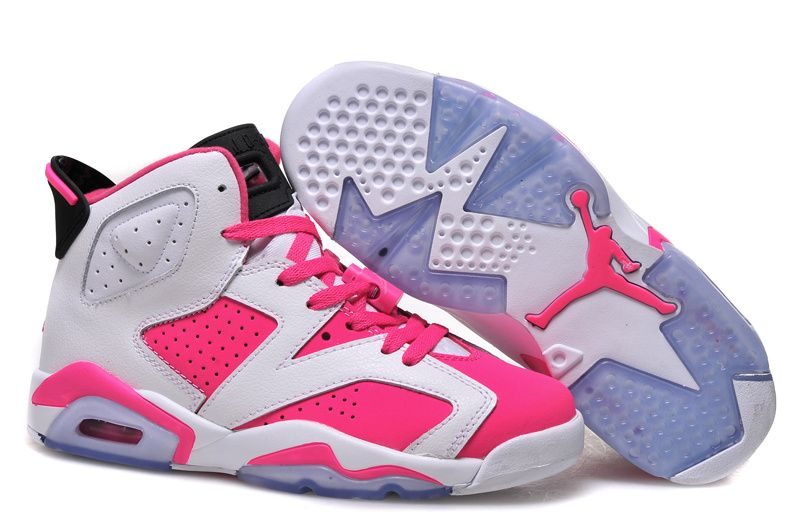 Air Jordan 6 GS 2015 White Bright Pink Color For Girls