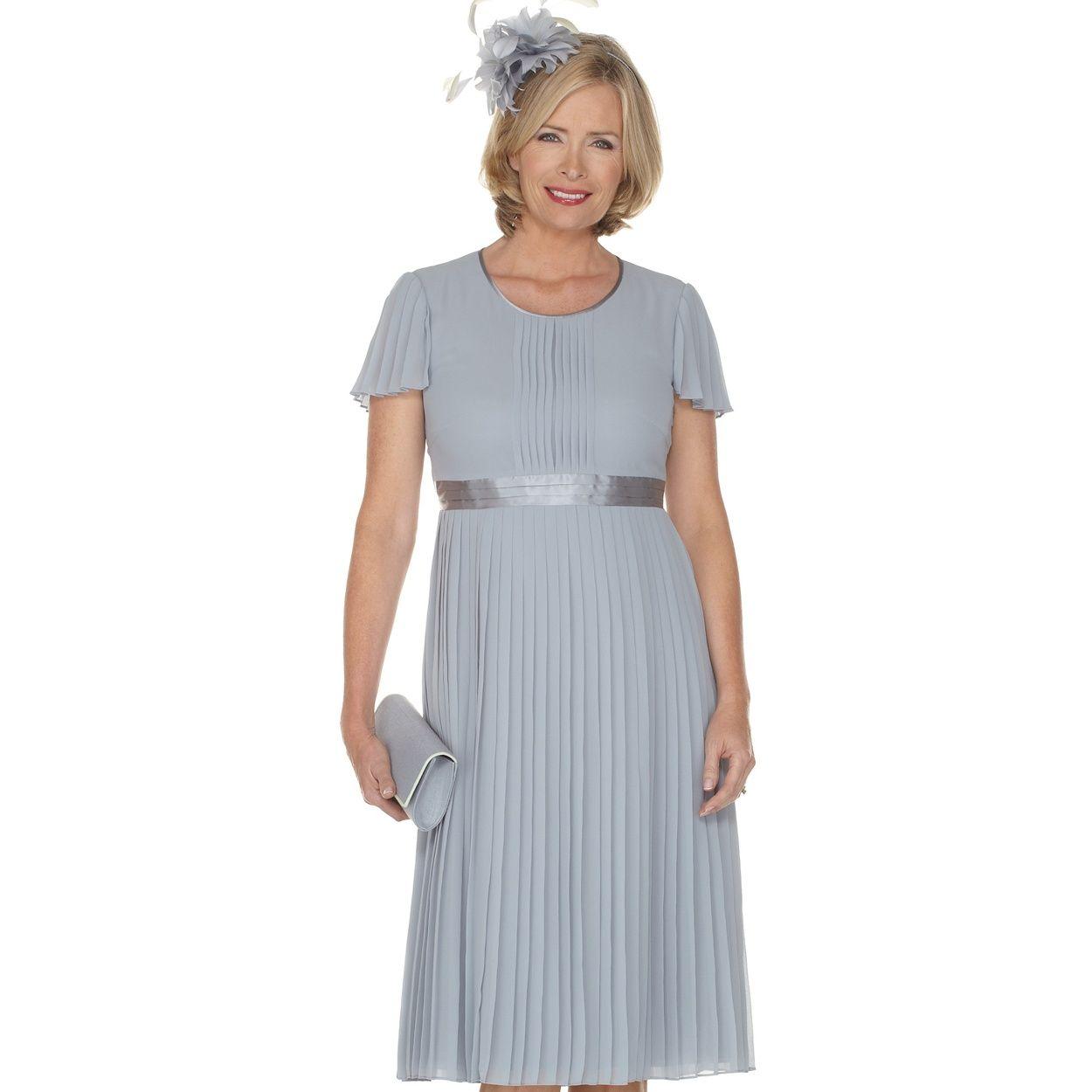 Jacques Vert Zinc Chiffon Pleated Dress- At Debenhams.com
