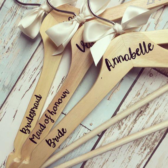 Personalised wedding coat hanger - wedding dress hanger, bridal ...
