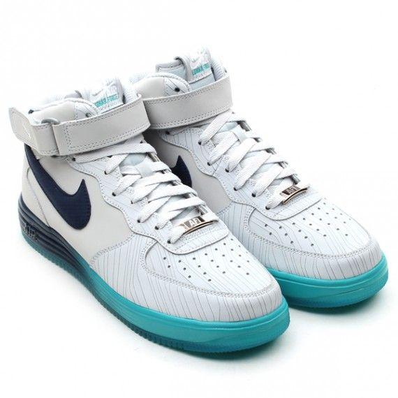 Nike Lunar Force 1 Mid Pure Platinum Squadron Blue