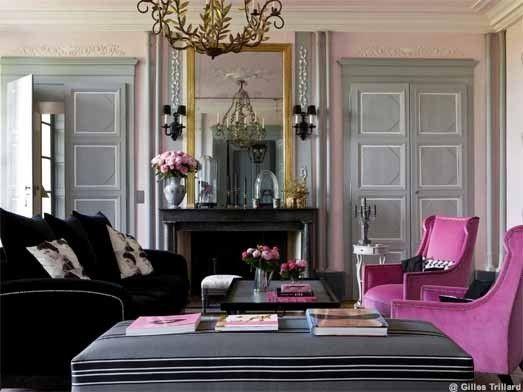salon gris y rosa buscar con google - Salon Noir Gris Rose