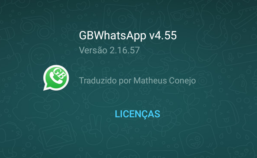 GBWhatsApp v4.55 Adicionado criptografia pontaaponta