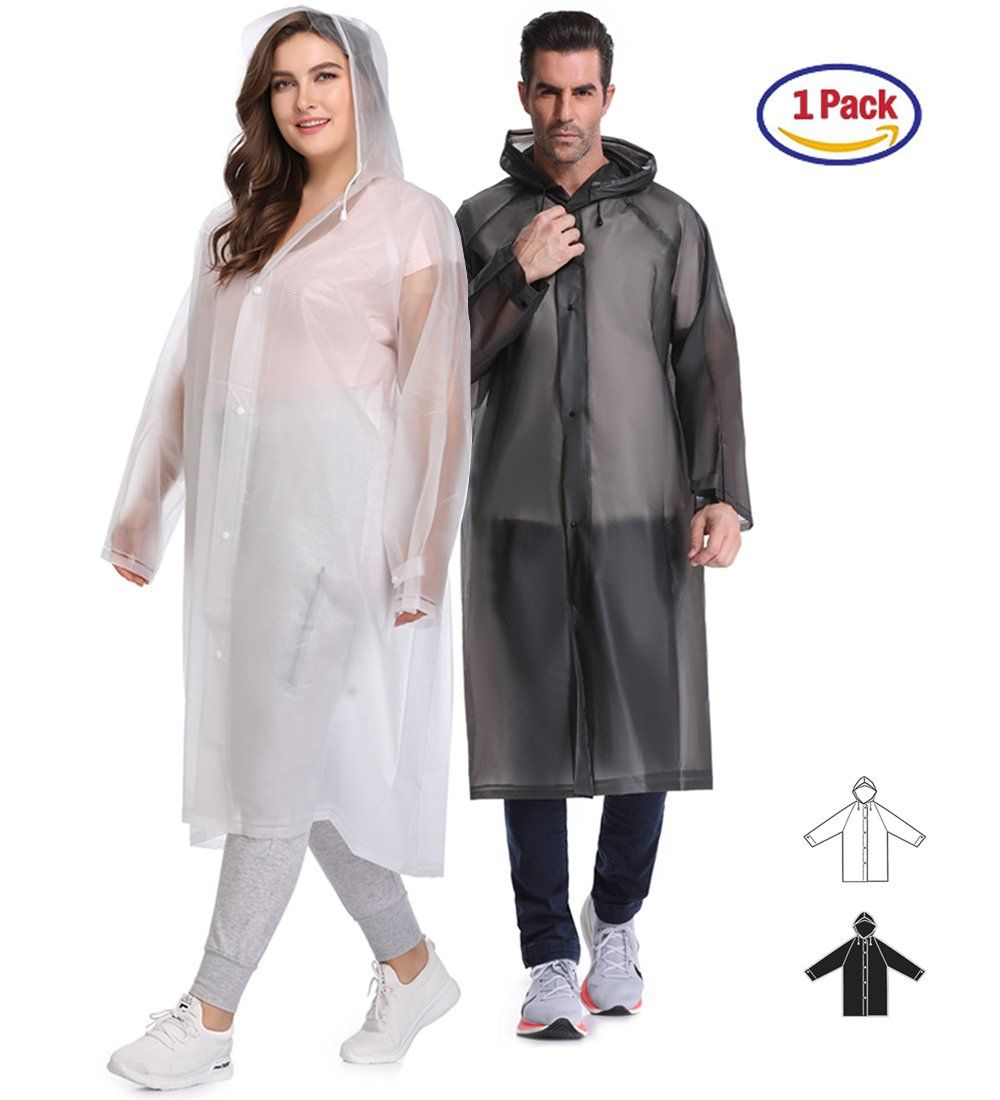 e00fcbd06 EnergeticSky Multifunctional Rain PonchoEVA Portable Raincoat with ...