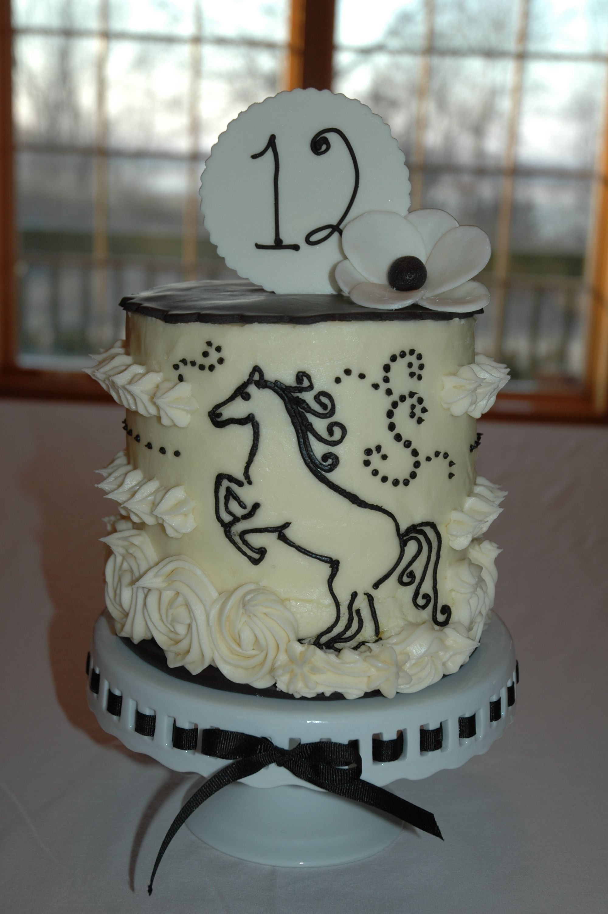Birthday Cake with a horse theme I love this one it would be hard