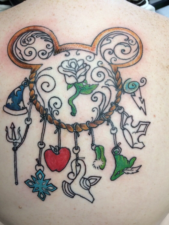 Disney Dream Catcher Tattoo : disney, dream, catcher, tattoo, Disney, Dream, Catcher, Tattoo, Tattoos,