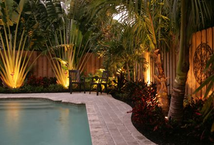 Garden Lighting With Images Landscaping Around Pool