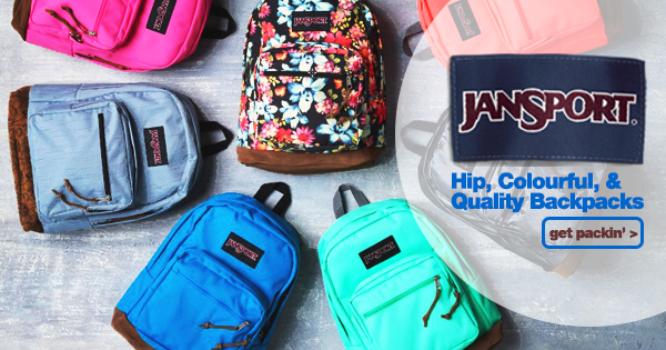 SNOWYS BLOG > We now stock a wide range of hip, colourful, and quality JanSport backpacks. And you know what - they're pretty rad! #snowysblog #campingaustralia #dayhiking