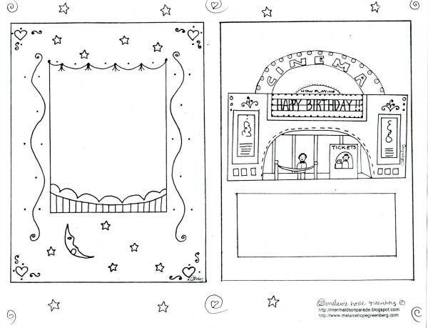 Printable Birthday Card to Color
