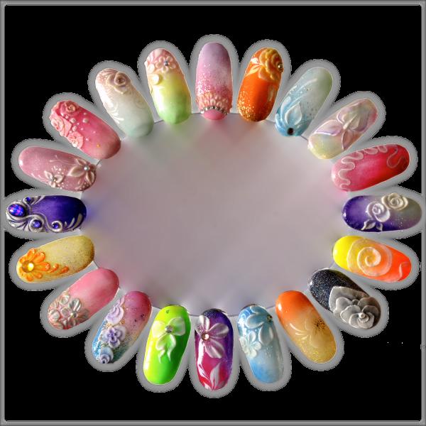 Quelques idées nail art : One Stroke, 3D et 4D, aquarelle ...
