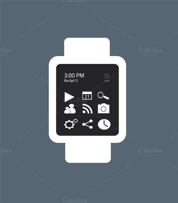 Smart watch material design gray