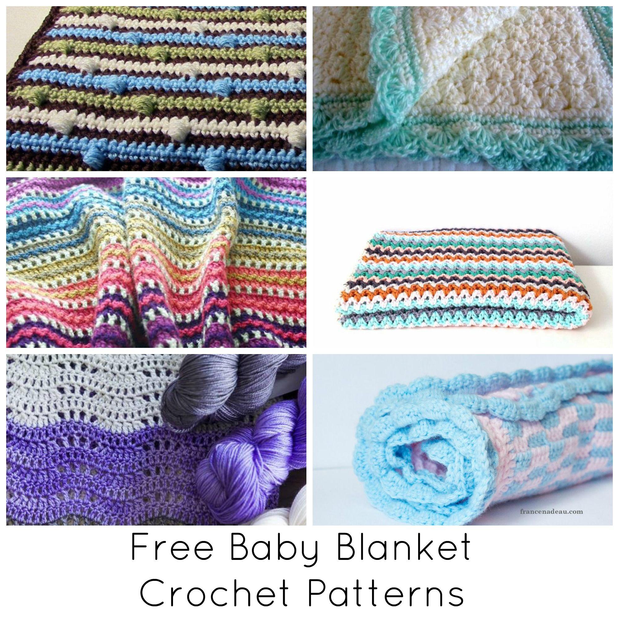 13 Free Crochet Baby Blanket Patterns
