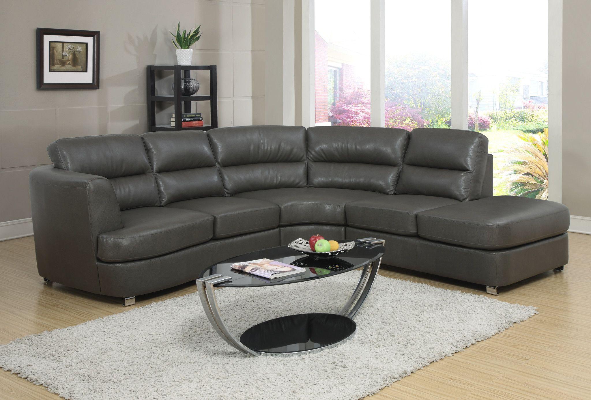 Best Sofa Sectional Dark Grey Bonded Leather – Harvey 640 x 480