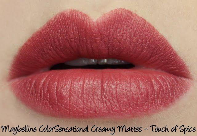 Maybelline Colorsensational Creamy Matte Lipstick Touch Of Spice